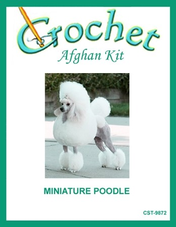 Miniature Poodle Crochet Afghan Kit