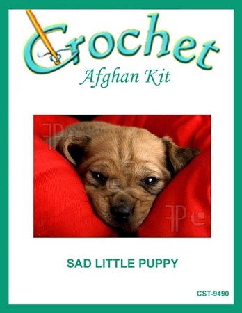 Sad Little Puppy Crochet Afghan Kit