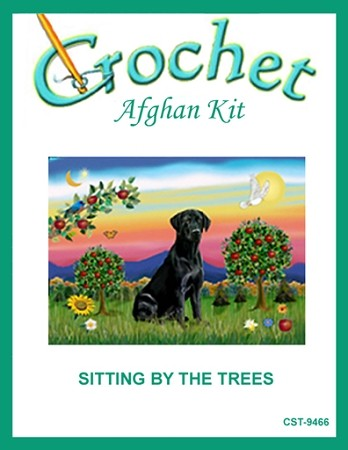 Sitting By The Trees Crochet Afghan Kit