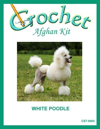 White Poodle Crochet Afghan Kit