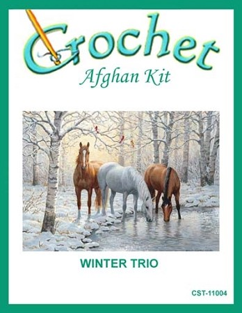 Winter Trio Crochet Afghan Kit