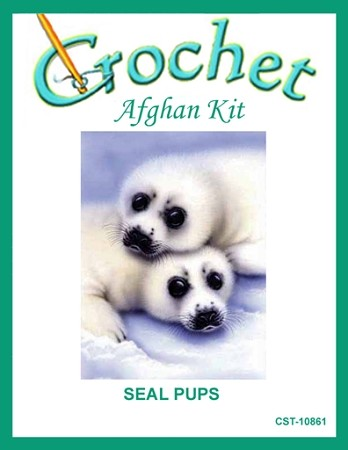 Seal Pups Crochet Afghan Kit