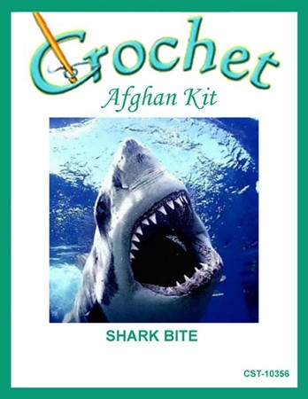 Shark Bite Crochet Afghan Kit