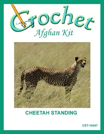 Cheetah Standing Crochet Afghan Kit