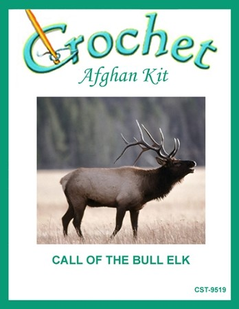 Call Of The Bull Elk Crochet Afghan Kit
