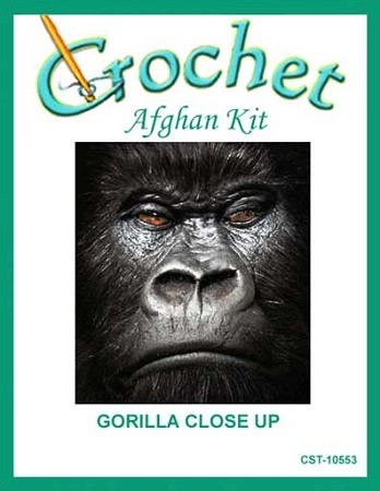 Gorilla Close Up Crochet Afghan Kit