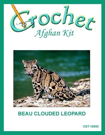 Beau Clouded Leopard Crochet Afghan Kit