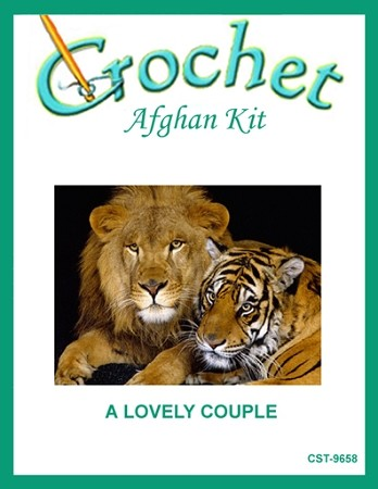 A Lovely Couple Crochet Afghan Kit