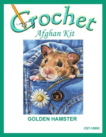 Golden Hamster Crochet Afghan Kit