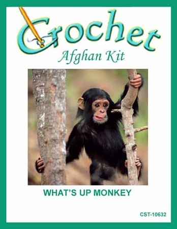 What's Up Monkey Crochet Afghan Kit