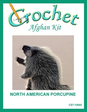 North American Porcupine Crochet Afghan Kit