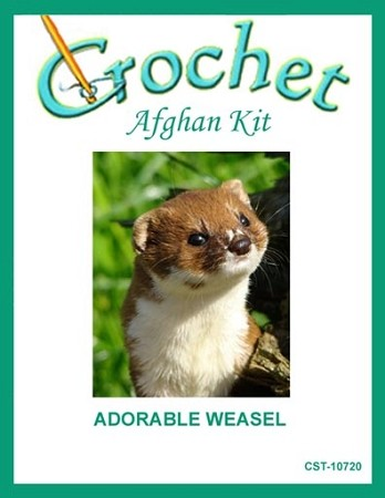 Adorable Weasel Crochet Afghan Kit