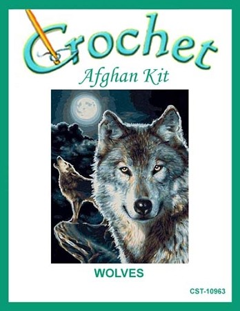 Wolves Crochet Afghan Kit