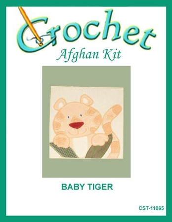 Baby Tiger Crochet Afghan Kit