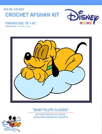 Baby Pluto Clouds Crochet Afghan Kit