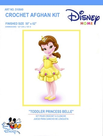 Toddler Princess Belle Crochet Afghan Kit
