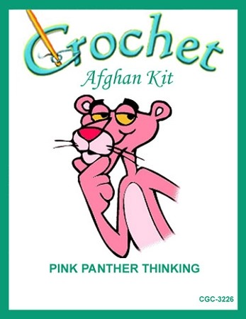 Pink Panther Thinking Crochet Afghan Kit