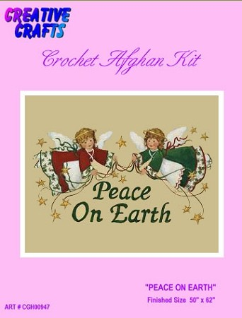 Peace On Earth Crochet Afghan Kit