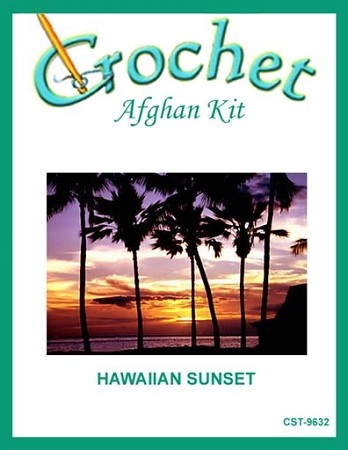 Hawaiian Sunset Crochet Afghan Kit