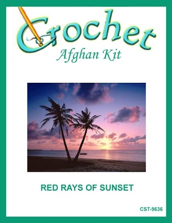 Red Rays Of Sunshine Crochet Afghan Kit