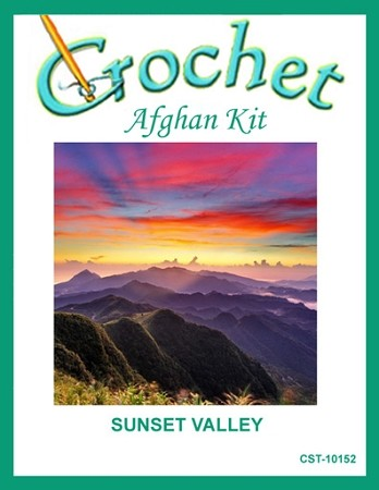 Sunset Valley Crochet Afghan Kit