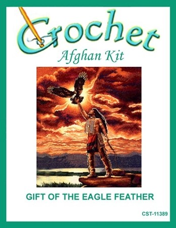 Gift Of The Eagle Feather Crochet Afghan Kit