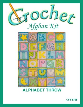 Alphabet Throw Crochet Afghan Kit