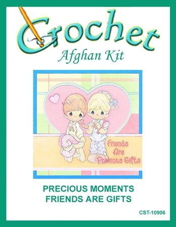 Precious Moments Friends Are Gifts Crochet Afghan Kit