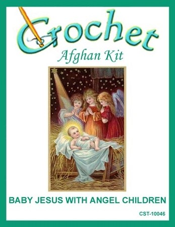 Baby Jesus with Angel Children Crochet Afghan Kit