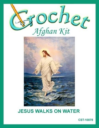 Jesus Walks On Water Crochet Afghan Kit