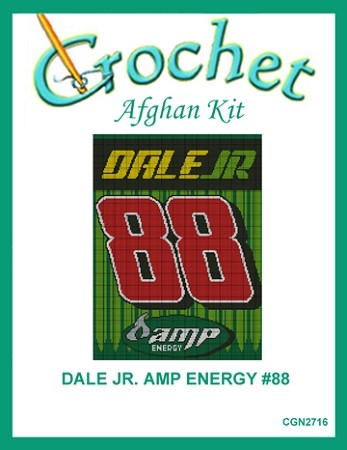 Dale Jr. Amp Energy #88 Crochet Afghan Kit