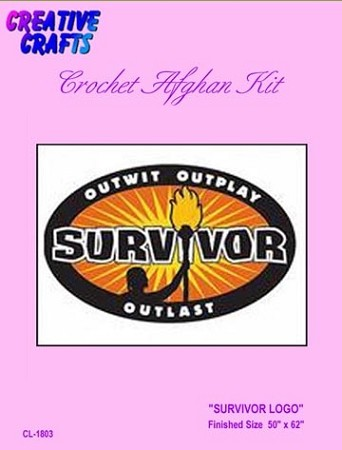 Survivor Logo Crochet Afghan Kit