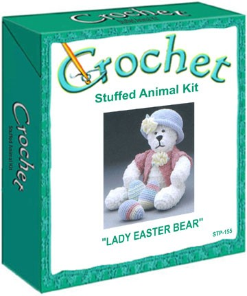 Lady Easter Bear Stuffed Animal Crochet Kit