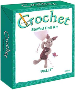 Piglet Stuffed Doll Crochet Kit