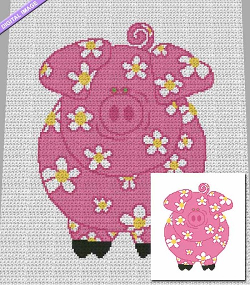 Flower Piggy Crochet Pattern