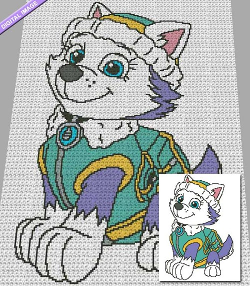 Paw Patrol - Everest Crochet Pattern