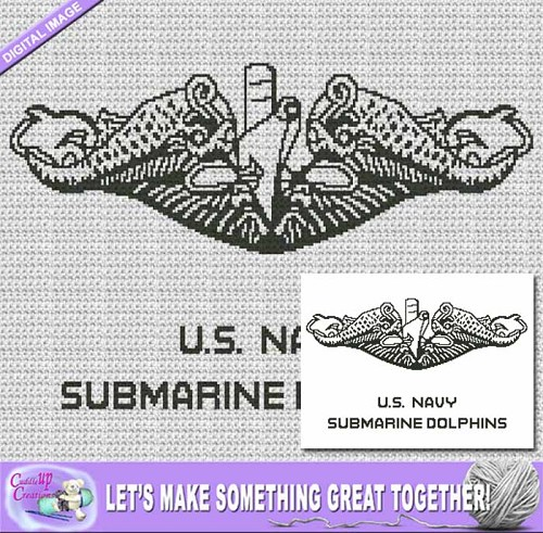 US Navy Submarine Dolphins Crochet Pattern