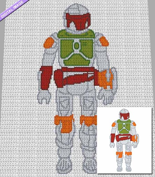 Star Wars - Boba Fett Crochet Pattern