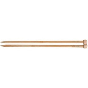 "Clover Bamboo Single Point Knitting Needles 13"" – 14"" Size - 10"