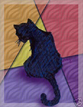 Colorful Cat Crochet Pattern