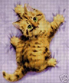 Hang On Kitty Crochet Pattern