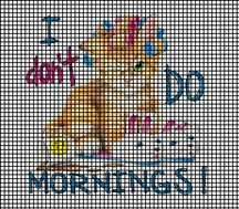 I Don't Do Mornings Crochet Pattern