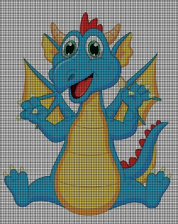 Cute Little Dragon Crochet Pattern