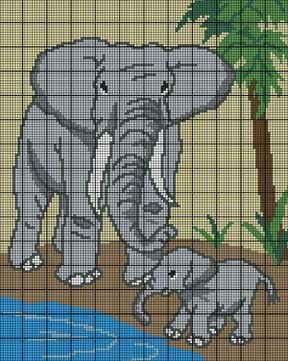 Mother & Baby Elephant Crochet Pattern