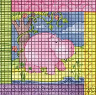 Sammie The Hippo Crochet Pattern