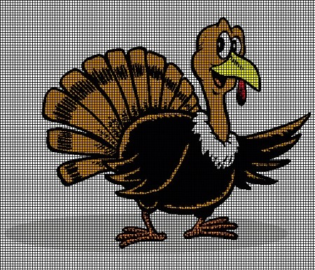 Happy Turkey Crochet Pattern
