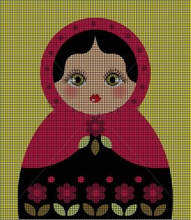 Russian Doll Babushka Matryoshka amigurumi pattern by Millionbells ... | 450x390