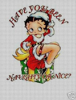 Betty Boop Naughty Or Nice Crochet Pattern