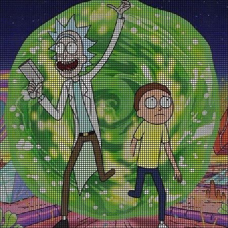 This pattern will help you create one 27 cm (~10,6 in) tall Morty ... | 450x450