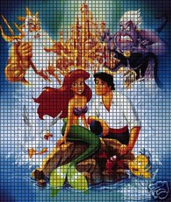 Little Mermaid Collage Crochet Pattern